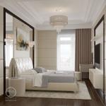 Дизайн спальни в стиле ар-деко