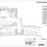 дизайн проект план с мебелью