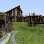 Ландшафтный дизайн вокруг загородного дома