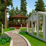 Ландшафтный дизайн сада вокруг дома