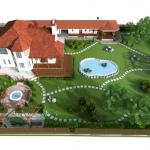 дизайн ландшафта загородный дом