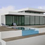 дизайн коттеджа с бассейном