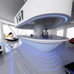 дизайн салона продажи мотовездеходов, снегоходов, аквабайков и катеров BRP