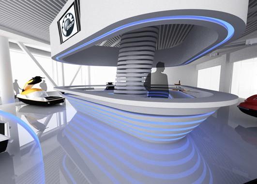 Дизайн интерьера салона BRP